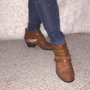Brown Ankle Booties Size 8
